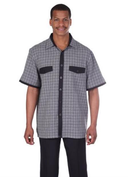 Men's Vintage Style Suits, Classic Suits  New Mens SummerSpring Vacation Wear 2 Piece Walking Suit Black $77.00 AT vintagedancer.com