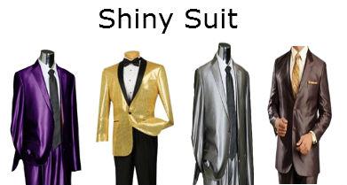 Mens Shiny Suit