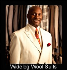 wide leg wool suits