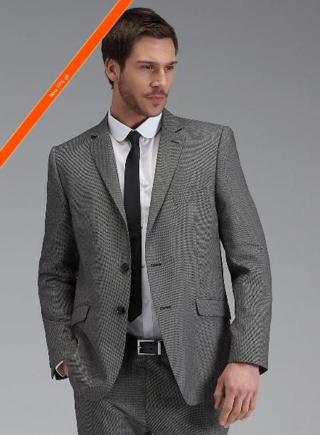 ID#JZ8922 Grey Inexpensive ~ Cheap ~ Discounted Clearance Sale Prom Outfit Cheap Priced Cheap Priced Fitted Tapered Cut Skinny Tie Extra Slim Fit Suit