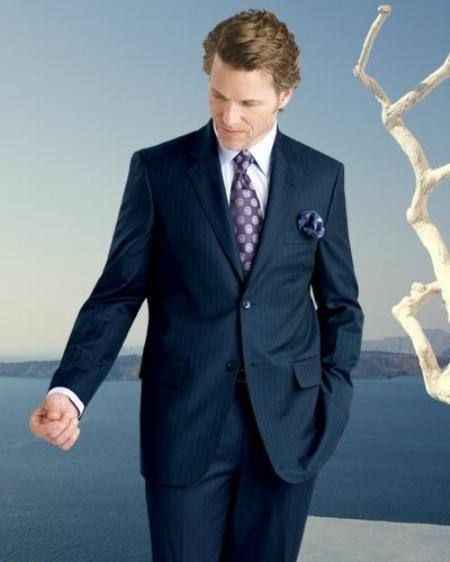 2 Button Navy Blue Suit