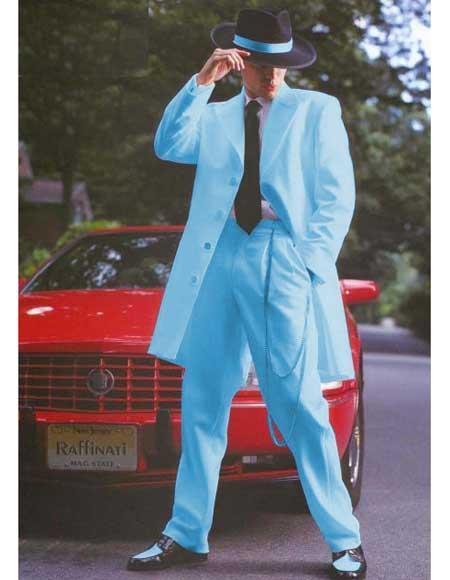 Baby Blue Color Zoot Suit