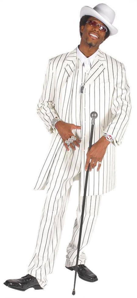 BeautifulMens-Vested-White-Bold-Black-Pinstripe-Gangester-Zoot-Suit