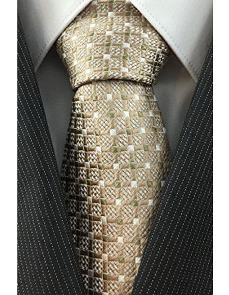 Beige-Color-Grid-Pattern-Necktie-32236.jpg