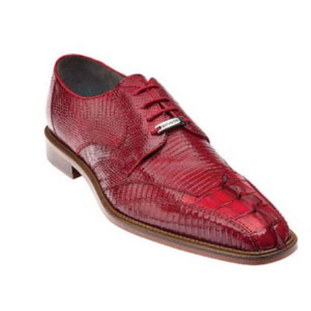 Belvedere Topo Hornback & Lizard skin Shoes for Men red pastel color