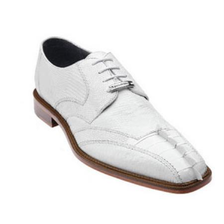 Belvedere Topo Hornback & Lizard skin Shoes for Men White