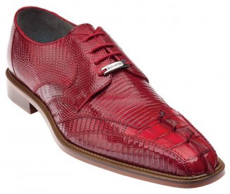 "Authentic Belvedere ""Topo"" White Genuine Hornback crocodile skin ~ Gator skin / Lizard skin Shoes for Men"