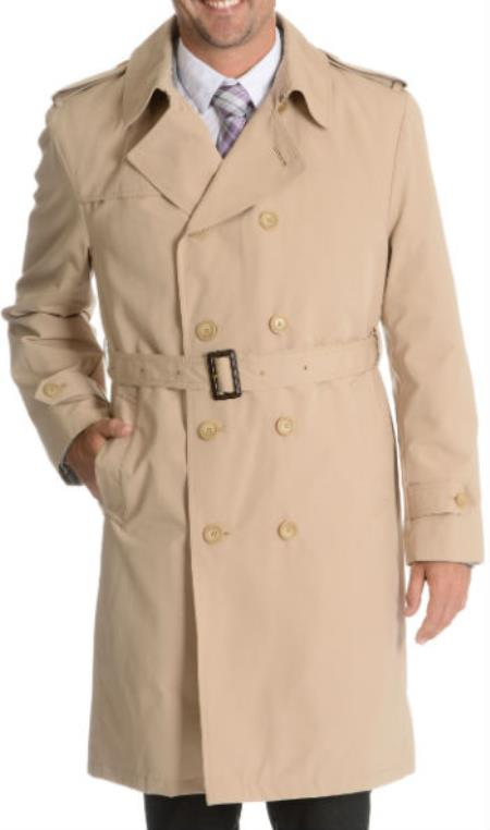 Men's Vintage Style Coats and Jackets Blu Martini Double Breasted Trench Coat Dark color black $166.00 AT vintagedancer.com