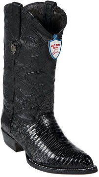 Wild West Formal Shoes For Men Dark color black Teju Lizard skin Western Dress Cowboy Boot Cheap Priced For Sale Online
