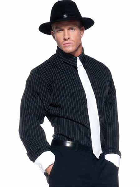 black shirt pants hat tie set 28430jpg