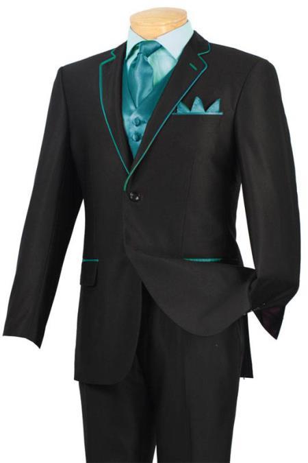 Dark color black Slim Fit Suit | purchase Microfiber Tuxedo