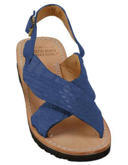 Blue Jean Exotic Skin Sandals