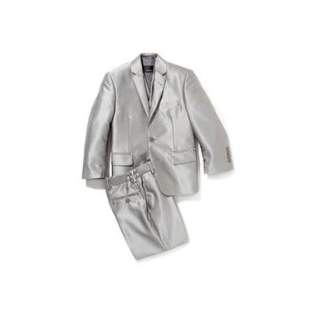Boys 3 Piece Gray Suit
