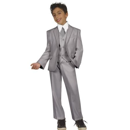 Children Kids Boys Five Piece Suit With Vest,Shirt And Tie G