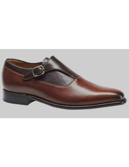 Two Tone Brown Black Italian Calfskin Leather Shoes