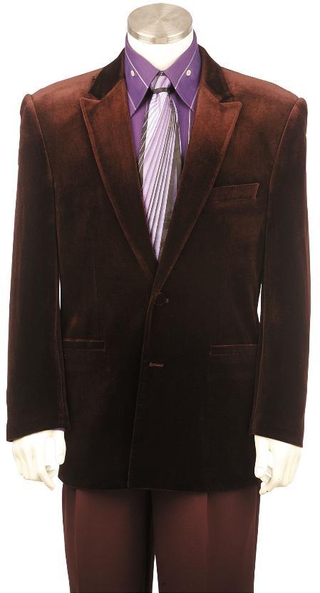 Brown-Color-Velvet-Suit