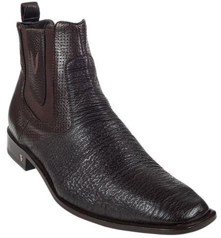 Coco Chocolate brown Genuine Shark Dressy men's Short Boots