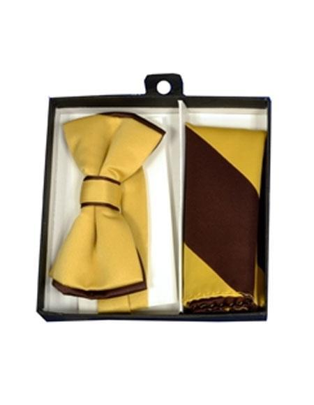 Brown-Gold-Polyester-Bowtie-Hankie-36220.jpg
