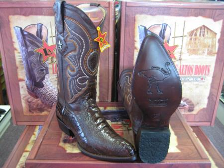 Los Altos Genuine Black Ostrich Leg Casual Shoes Lace Up Handmade Sneaker EE