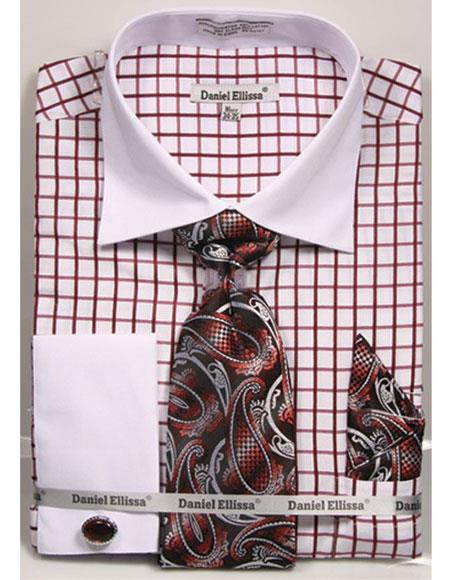 Burgundy-Checked-Pattern-Dress-Shirt-32397.jpg