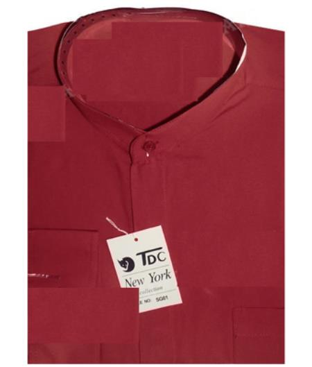 Burgundy-Color-Banded-Collar-Shirt-24069.jpg