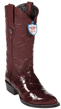 Wild West Burgundy ~ Maroon ~ Wine Color Eel Western Dress Cowboy Boot Cheap Priced For Sale Online