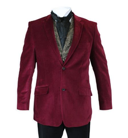 Burgundy Velvet Jacket Mens Blazer Online Smoking Jacket