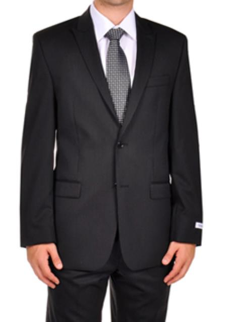 Calvin Klein Dark color black Stripe ~ Pinstripe Dress Suit Seperates