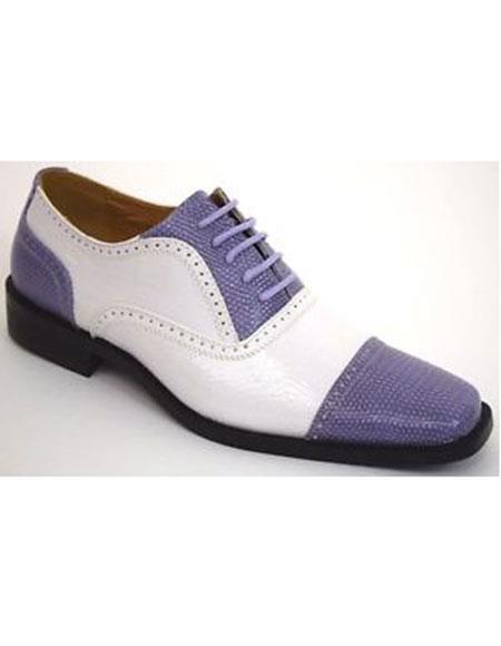 Cap Toe Lavender Dress Shoes