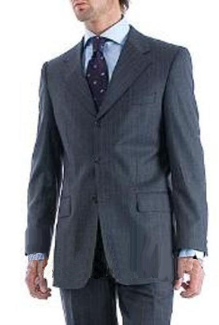 Charcoal Color pinstripe Wool Suit