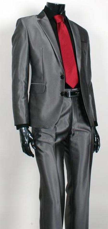 Charcoal Color Two Buttons Suit