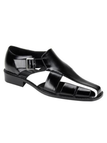 Closed Toe Black White Shoes