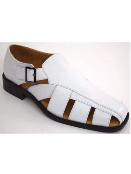 Closed Toe White Fisherman Sandals