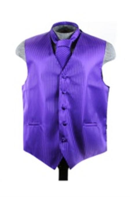 Purple Vest And Tie