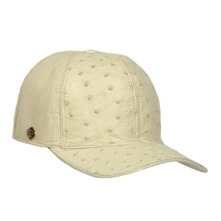 Cream-Color-Ostrich-Skin-Cap-12378.jpg