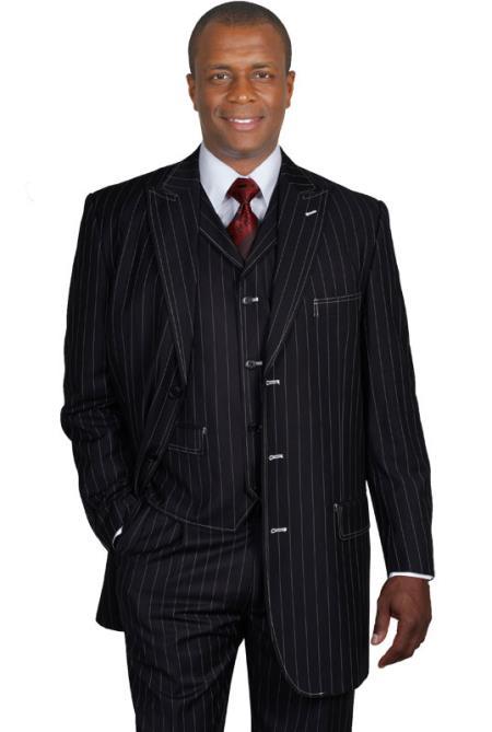 Black Gangster Suits