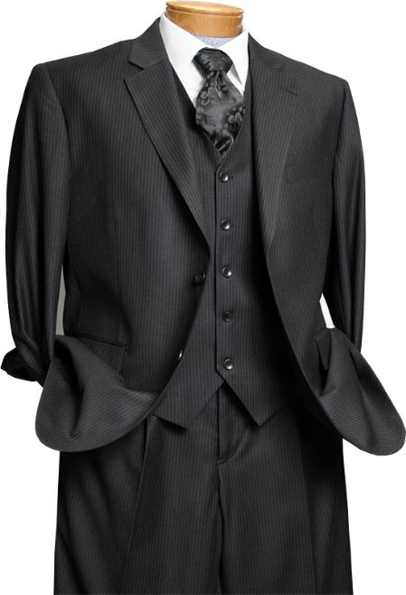 Dark color black European crafted 3 piee suit | Cheap Suits