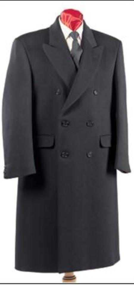 1920s Mens Coats & Jackets History Fully Lined Double Breasted Wool fabric Blend Long length overcoats for men  Topcoat full length $200.00 AT vintagedancer.com