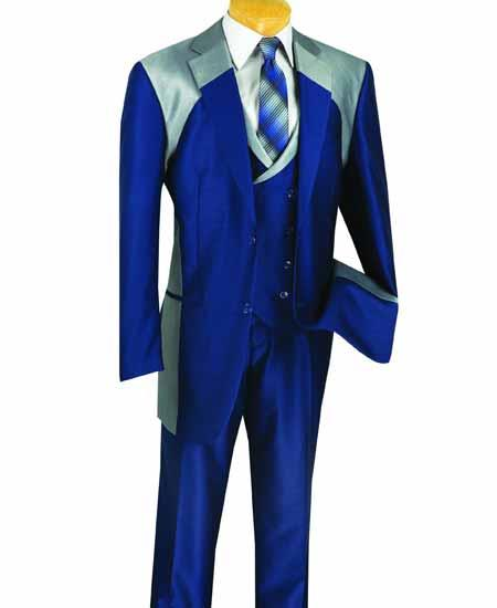 Double Breasted Royal Blue Suit