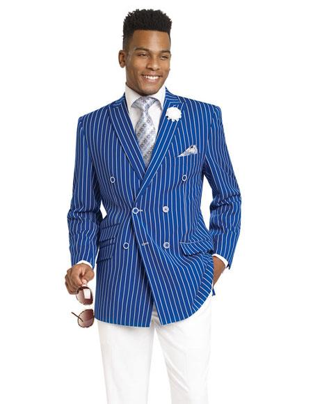 1920s Mens Suits Double Breasted Blazer Sport Coat Jacket $163.00 AT vintagedancer.com