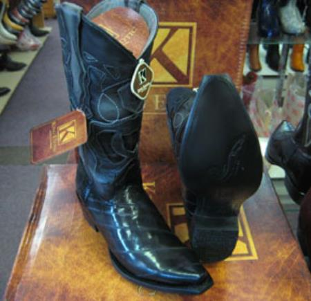 Genunie Eel Snip Toe western Gray Dress Cowboy King Exotic Boots Cheap Priced For Sale Online