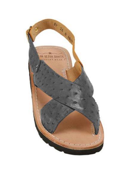 Exotic Blue Jean Skin Sandals