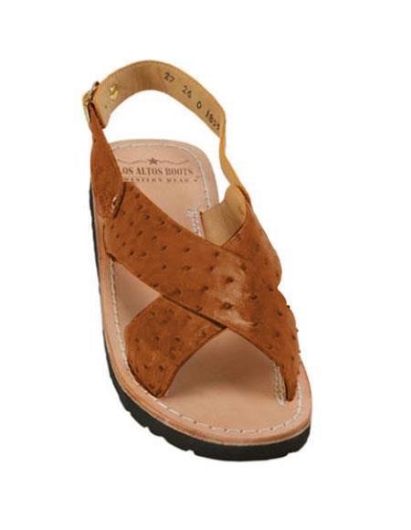 Exotic Cognac Skin Sandals