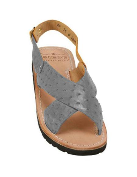 Exotic Gray Skin Sandals