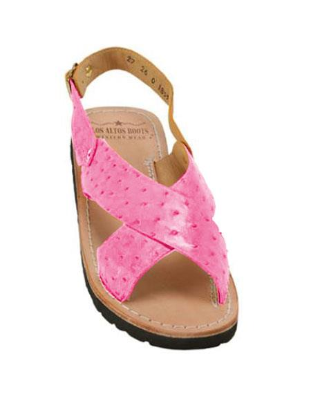Exotic Pink Skin Sandals