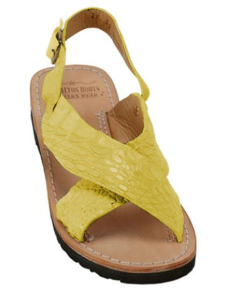 Exotic Skin Citron Yellow Sandals
