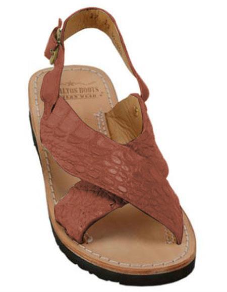 Exotic Skin Cognac Color Sandals