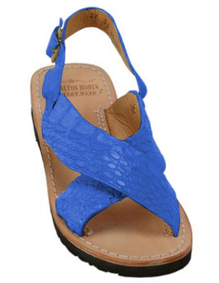 Exotic Skin Electric Blue Sandals