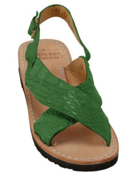 Exotic Skin Forest Color Sandals
