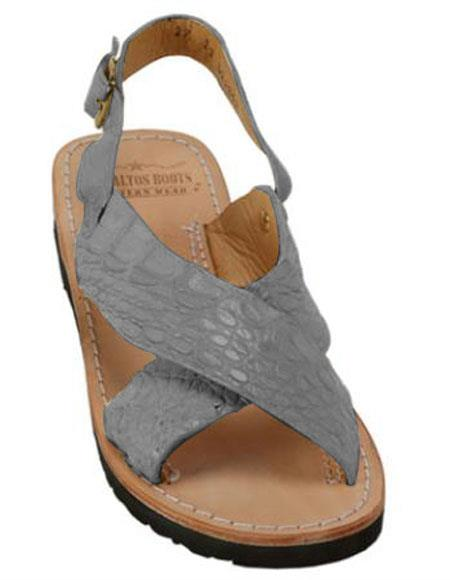 Exotic Skin Gray Sandals